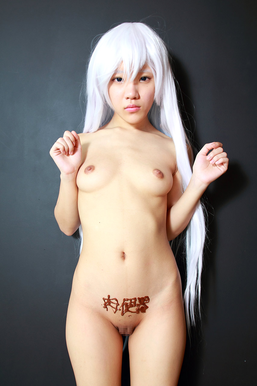 Japanese cosplay idol with clean shaved pussy fingered 8
