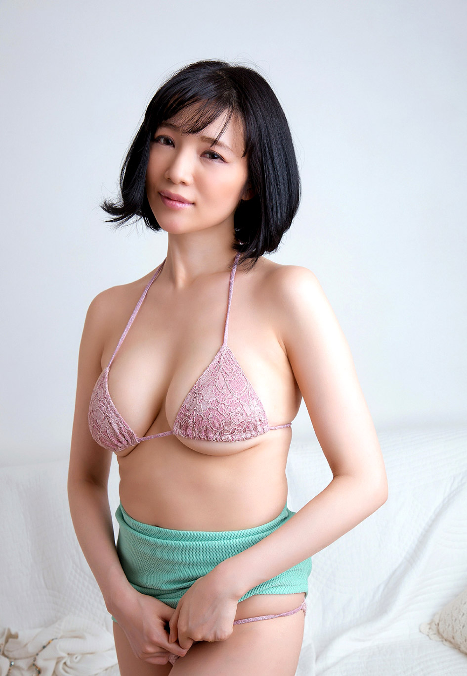 Aiko nagai with big assets sucks boner until gets cum in mou 8
